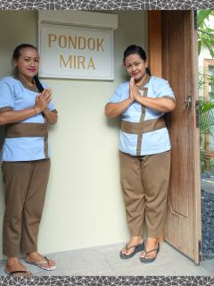 The girls from Sanda Spa are available for a full range of treatments in the villa