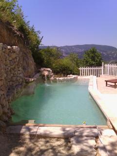 terrace Les Dentelles with swimmingpool