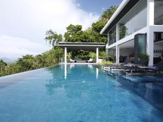 SUR256 Luxury Tropical Hill Sea View Villa, Surin