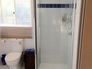 Two large bathrooms.  Family bathroom has a large claw foots bath and a large shower.