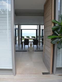 Front door with through view of ocean