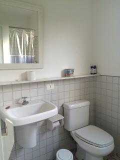 Banheiro do chalé.