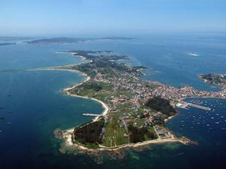 Vista aérea de la Isla de Arosa