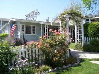 Laguna Cottage by the Sea with an ocean view and short walk to town and beach.