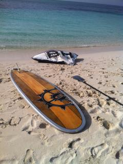 take a SUP (Stand-Up-Paddle) tours of mangrove, canals at Leeward.  See rays and sharks, bonefish...