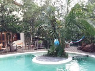 Casa Libelula Tulum, New Jungle House with pool up to 12. Rent it all !