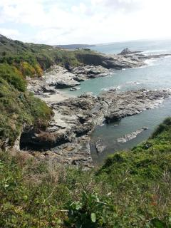 Prussia Cove,  the favourite haunt of Pirates and Smugglers in bygone days.  Just 15 mins away