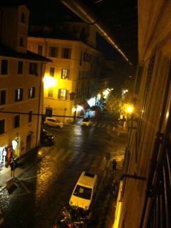 Via di San Giovanni in Laterano toward Colosseum, from the studio window
