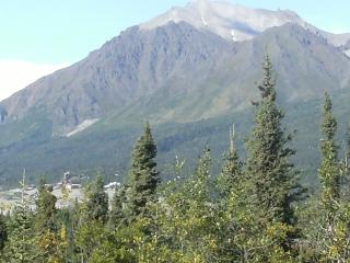View Northeast of the Kennicott Mine from the deck.