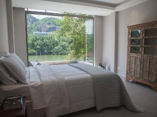 Trendy Suite lake front view at Barra da Tijuca
