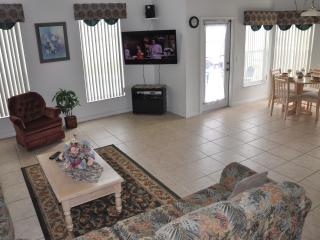 Disney Palms Living Room  with 50' LCD TV