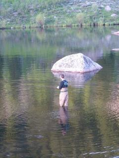 Fly fishing on the Roaring fork river available within walking distance from our home.