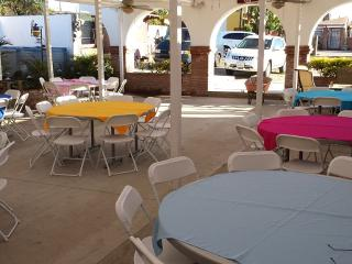 Located one block from Rosarito Beach Hotel, beach, clubs, shops and more...
