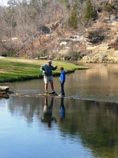 Fishing for rainbow trout at nearby Dogwood Canyon