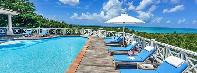 Villa L'Olivier SPECIAL OFFER: St. Martin Villa 298 From Any Vantage Point Along The Lengthy Sea-facing Deck You Feel Like You're On Top Of The World., Terres Basses