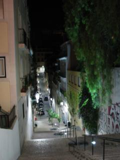 street view at night