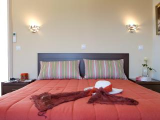 Bedroom with comfortable double bed Bedroom with comfortable double bed amazing sea views