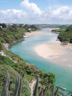 The river Gannel which leads down to Crantock Beach