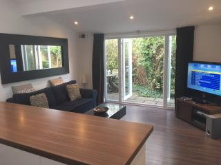 French doors open out to your own private patio and garden. Free SKY TV & high speed internet.