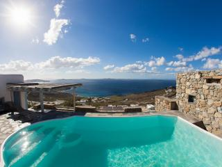 Enjoy panoramic sunset views over the Aegean sea, Mykonos
