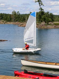 Dinghy for sailing or rowing while at our cottage