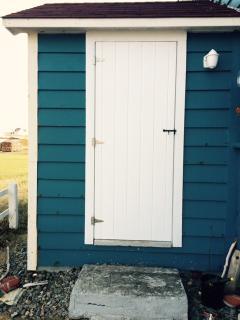 Front door to Hampton House. A Newfoundland heritage door.