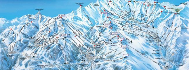 The massive Three Valleys ski domain