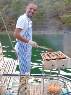 The barbecue is just one part of an amazing boat trip.