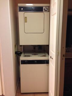 Washer/dryer inside the unit