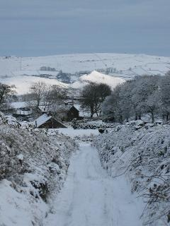 Looking down from Hollinsclough Moor in January