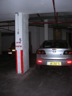 Designated parking space in secure underground garage. Space is right next to the elevator.