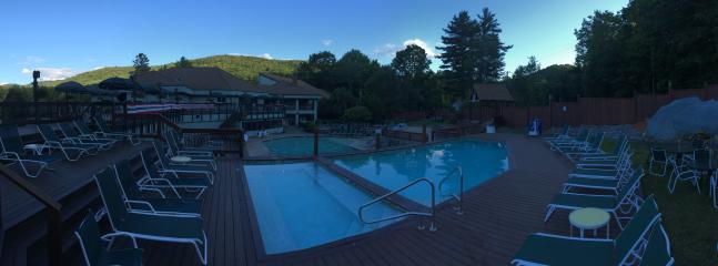 Pool deck at Sunset