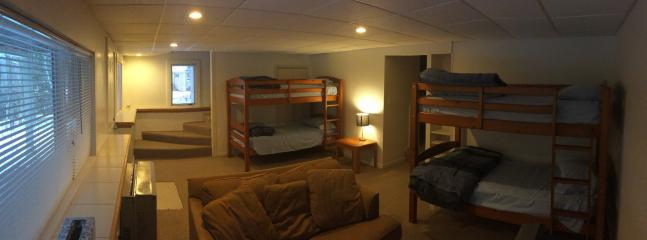 Main Lower Floor Entertainment and Bunk Room (TV & Game Console also)