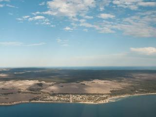 Aerial view of Baudin Beach Kangaroo Island