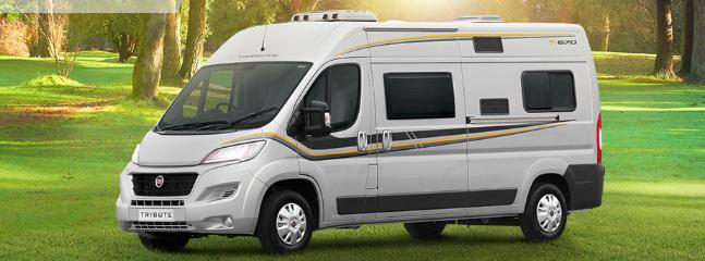Tribute 670 Campervan sleeps 2. We also stock the 669, sleeping 4.