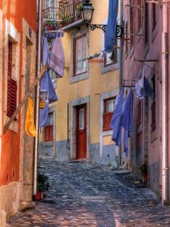 Street inside Astle walls