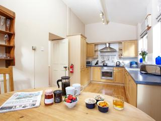 Large dining kitchen with fan oven, halogen hobs, dishwasher, microwave etc.