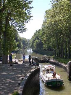 Canal du Midi lock in Castelnaudary