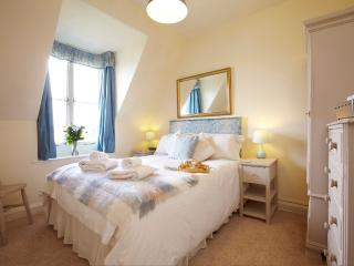 One of two en-suite bedrooms with fabulous views across Wharfedale