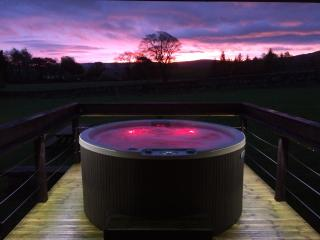 Luxury Lake District Hot Tub Lodges, fell views, private grounds, National Park.