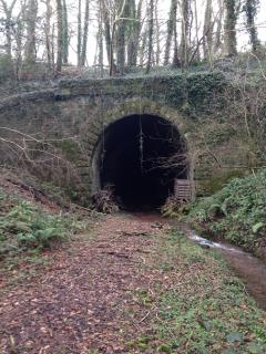 Our disused railway tunnel - all on our land and accessible - bring wellies. Spooky too.