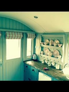 Inside The Lincoln Longwool Shepherd's Hut.