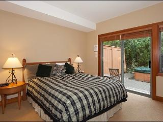 There is One King Bed Featured in the Spacious Master Bedroom
