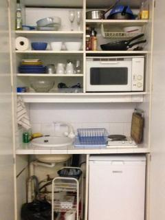 all you need in the compact kitchenette