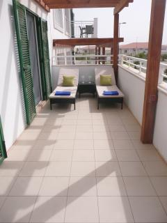 Terrace from each bedroom and sunloungers