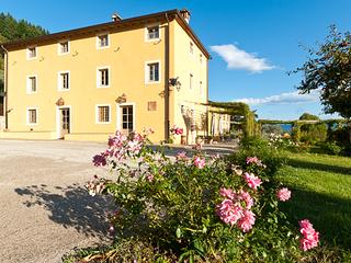 Typical Tuscan country home surrounded by orchards and olive groves. CSL FAT, Lucca