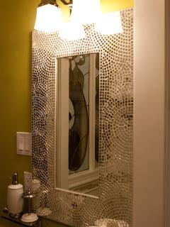 Ivy Room - glitz in the bathroom.