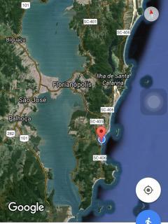 Localização da praia do Morro das Pedras na Ilha de Florianópolis