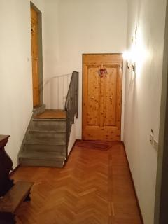 The entrance on the left of the loft.