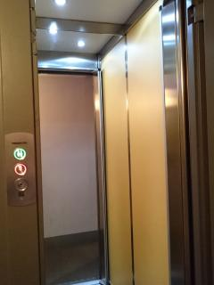 The elevator till the third floor then a flaight of stairs to the loft